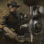 Steampunk - The Man 1 Art Print