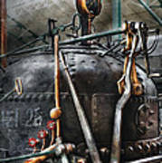 Steampunk - The Steam Engine Art Print