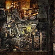 Steampunk - The Turret Computer  Art Print by Mike Savad