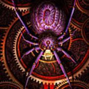 Steampunk - The Webs We Weave Art Print by Mike Savad