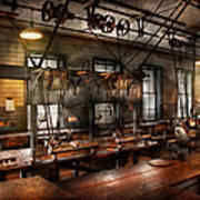Steampunk - The Workshop Art Print by Mike Savad