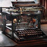 Steampunk - Typewriter - A Really Old Typewriter  Art Print by Mike Savad