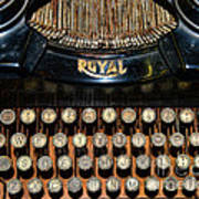 Steampunk - Typewriter -the Royal Art Print by Paul Ward