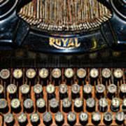 Steampunk - Typewriter -the Royal Art Print