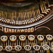 Steampunk - Typewriter - Underwood Art Print