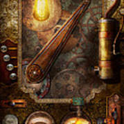 Steampunk - Victorian Fuse Box Print by Mike Savad