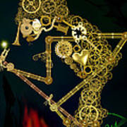 Steampunk Wayang Kulit Art Print