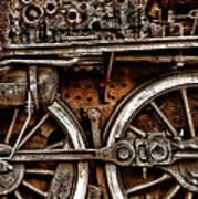 Steampunk- Wheels Locomotive Art Print