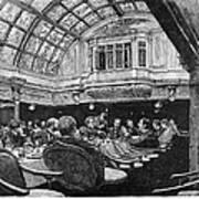 Steamship: Saloon, 1890 Art Print