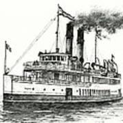 Steamship Tacoma Art Print
