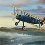 Stearman Biplane Art Print