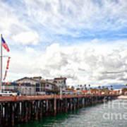 Stearns Wharf Santa Barbara California Art Print