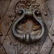 Steel Decorated Doorknob Art Print