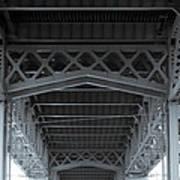 Steel Girder Bridge Art Print