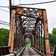 Steel Span Railroad Bridge Manayunk  Philadelphia Pa Art Print