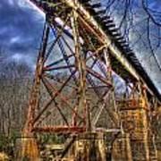 Steel Strong Rr Bridge Over The Yellow River Art Print