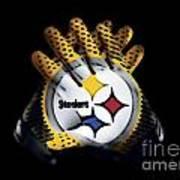 Steelers Gloves Art Print