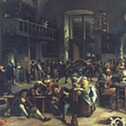 Steen: Merrymaking, 1674 Art Print