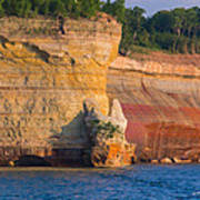 Steep Cliffs Art Print