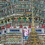 Steep Stairs Lead To Higher Level Of Temple Of The Dawn-wat Arun In Bangkok-thailand Art Print