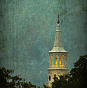 Steeple In A Storm Art Print