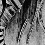 Steinway Black And White Inners Art Print