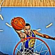 Steph Curry Print by Florian Rodarte