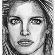 Stephanie Seymour In 1992 Art Print