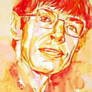 Stephen Hawking Portrait Art Print