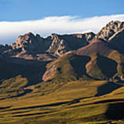 Steppe Valley With Surrounding Peaks Art Print