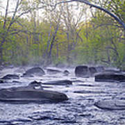 Stepping Stones Art Print by Bill Cannon