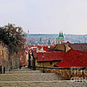 Steps Of Prague Art Print