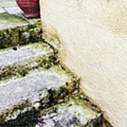 Steps Wall And Vase Art Print