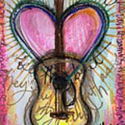 Steve Gold Guitar Art Print