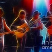 Steve Miller Band Fractal-1 Art Print