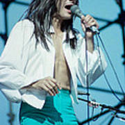 Steve Perry Of Journey At Day On The Green - July 1980 Art Print