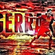 Steven Gerrard Liverpool Symbol Art Print
