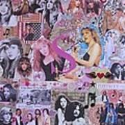 Stevie Nicks Art Collage Art Print