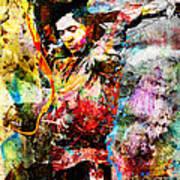 Stevie Ray Vaughan Original Art Print