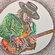 Stevie Ray Vaughn Art Print