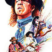 Stevie Ray Vaughn Art Print