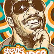 Stevie Wonder Pop Art Art Print