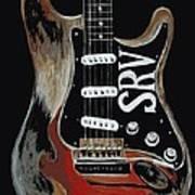 Stevie's Guitar Art Print