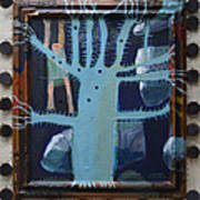 Sticker Tree - Framed Art Print