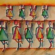 Stickwomen Performers Art Print