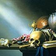 Still Life An Allegory Of The Vanities Of Human Life Art Print