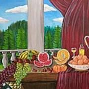Still Life Fruits Art Print