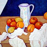 Still Life In Honor Of Cezanne   Art Print