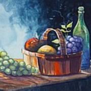 Still Life In Watercolours Art Print