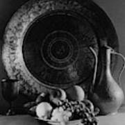 Still Life Of Armenian Plate And Other Art Print